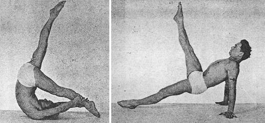 Fotos Joseph Pilates im Mattentraining, Control Balance, leg pull