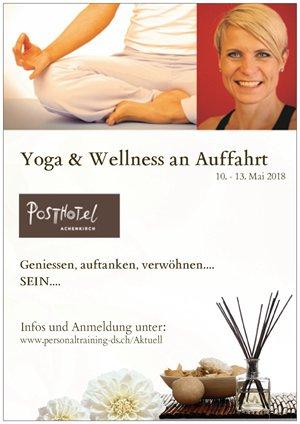 Flyer Yoga & Wellness an Auffahrt 2018 im Posthotel Achenkirch