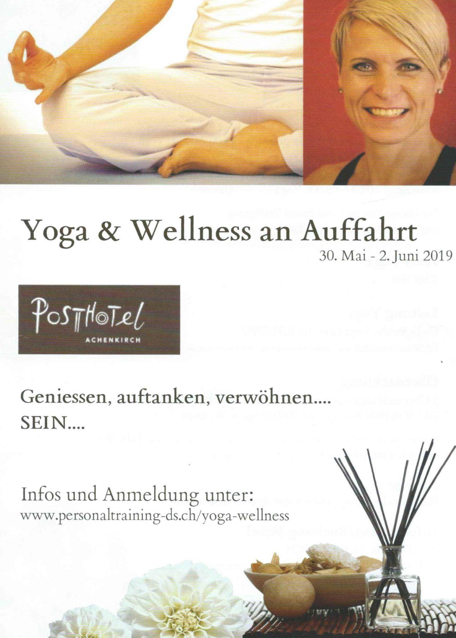 Flyer Yoga & Yoga & Wellness an Auffahrt 2019